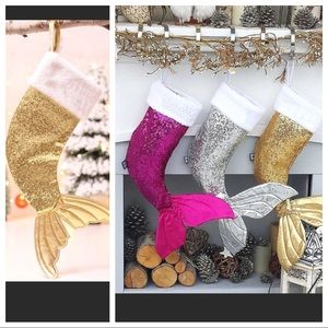 Other - Gold Mermaid Tail Christmas Stocking!